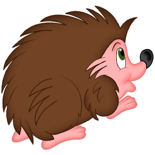 hedgehog cartoon clipart 2